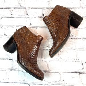 Cole Haan | Basket Weave Ankle Boots, 7.5